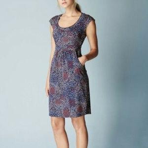 Boden S 4 Margot Dress Jersey knit Navy blue Red